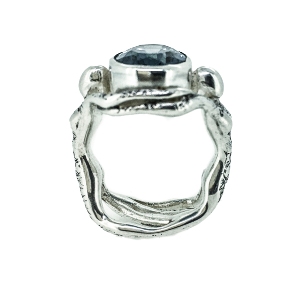 Blue Topaz People Ring