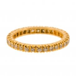 0.5ct Diamond Eternity Ring in Yellow Gold