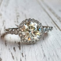 1.17ct Diamond Halo Ring in Platinum