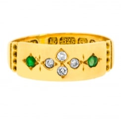 1890 Emerald and Diamond Band