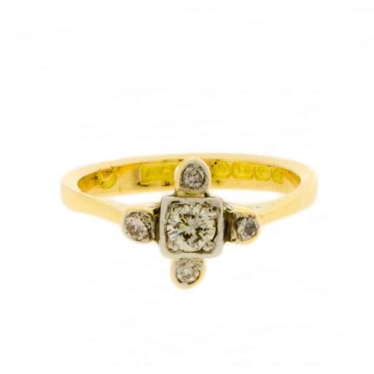 1930s Unusual Diamond Ring