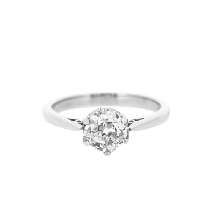 1ct Cushion Cut Diamond Solitaire Ring