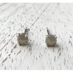 4mm Rose Cut Diamond Stud Earrings
