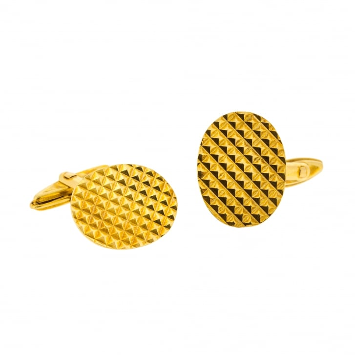70s Textured Gold Cufflinks