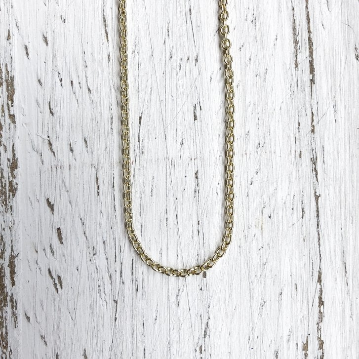 9ct Adjustable 18 Inch Fine Trace Chain in Yellow Gold