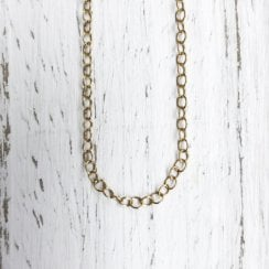 9ct Adjustable 18 Inch Medium Trace Chain in Yellow Gold