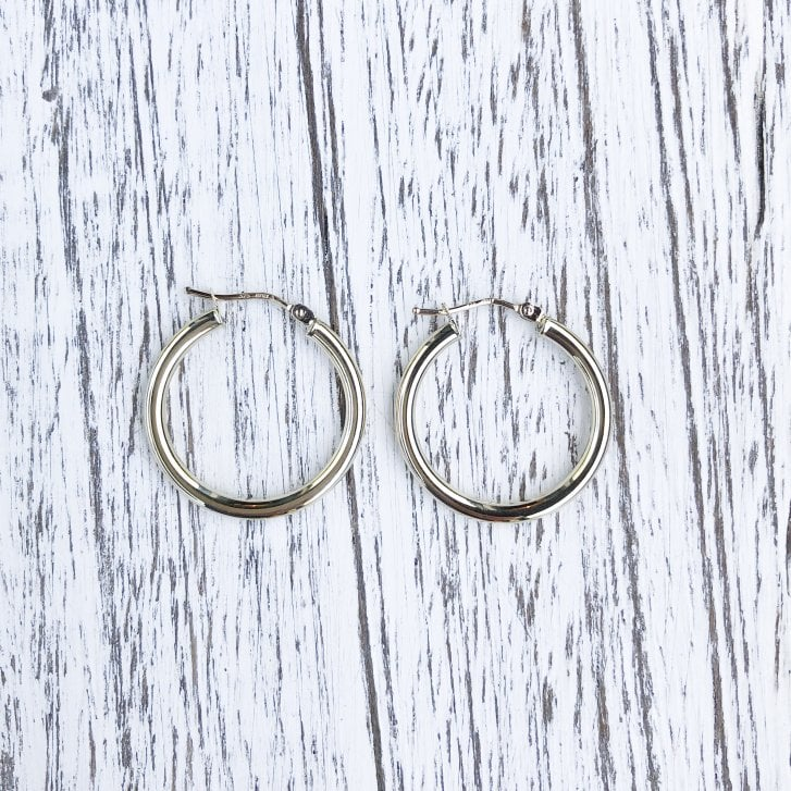 9ct Yellow Gold Round Hoops
