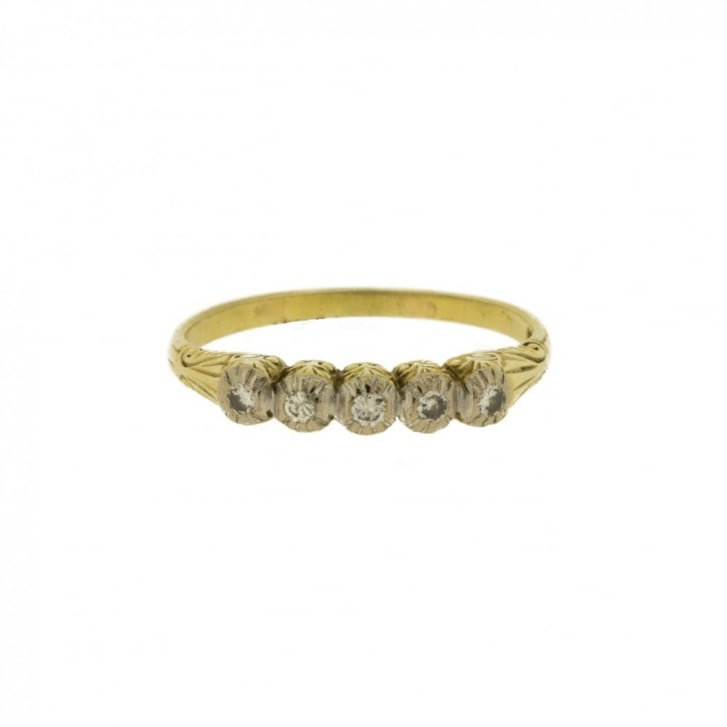 Antique Five Diamond Ring