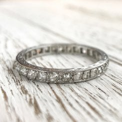 Antique Old Cut Diamond Full Eternity Band