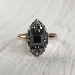 Art Deco Black Spinel Ring