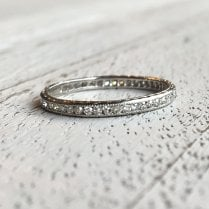 Art Deco Diamond Platinum Eternity Ring