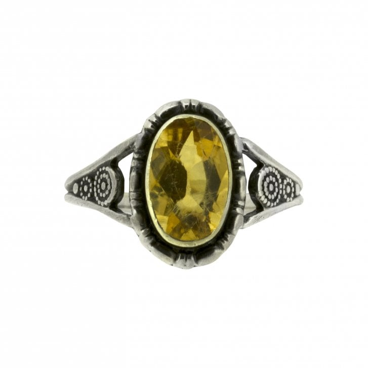 Arts & Crafts Citrine Ring