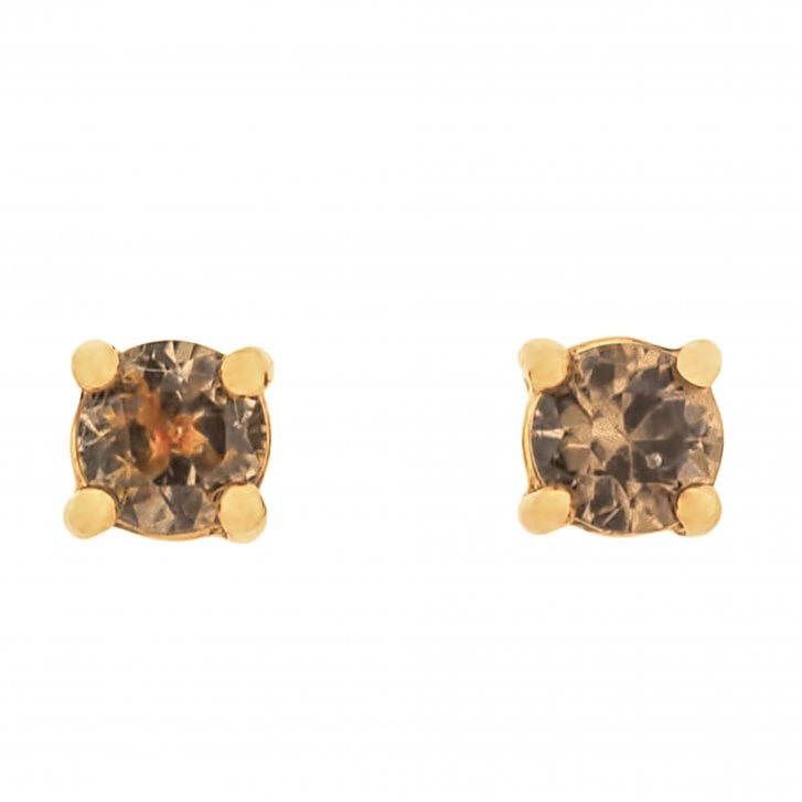 Lila's Australian Natural Zircon and Fairtrade Rose Gold Earrings