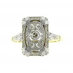 Beautiful Open work panel Diamond Ring