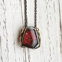 Becky Dockree Amolite and Oxidised Silver Necklace