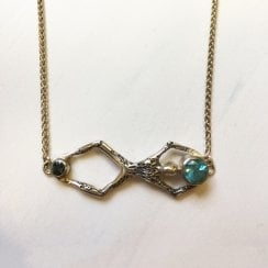 Becky Dockree Blue Gems People Necklace