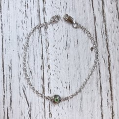 Becky Dockree Dome Chain Bracelet with Chrome Diopside