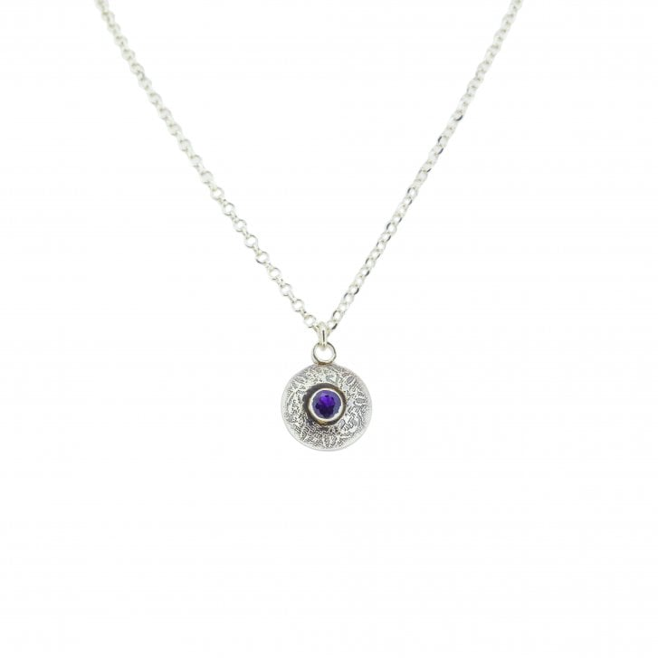 Becky Dockree Double Dome Amethyst and IoliteNecklace