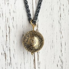Becky Dockree Etched Ball Necklace