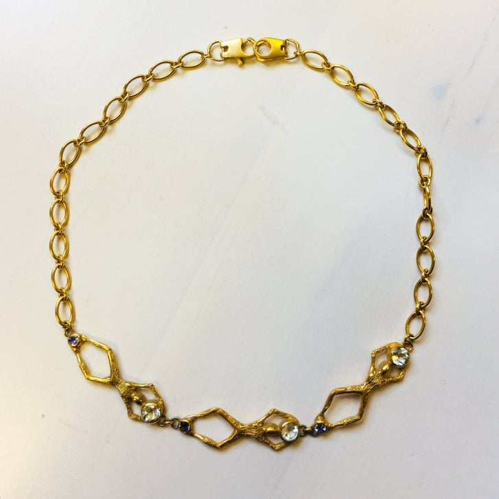 Becky Dockree Gold Plated Inked Choker