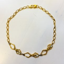 Gold Plated Inked Choker