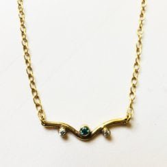 Gold Plated Mini Curve Necklace