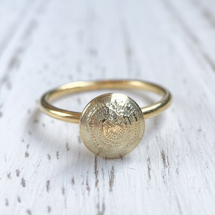 Becky Dockree Gold Plated Silver Dome Ring