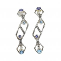 Becky Dockree Iolite and Topaz Twins Earrings