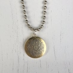 Becky Dockree Large Coin and Ball Chain Necklace