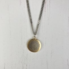 Becky Dockree Large Coin on Curb Chain Necklace