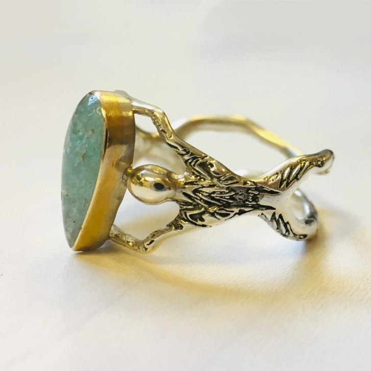 Becky Dockree People Ring with Apatite