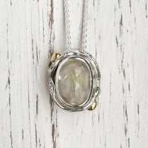 Becky Dockree Rutilated Quartz People Necklace