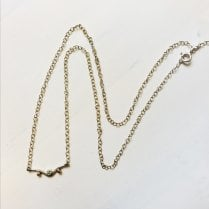 Silver Mini Curve Necklace
