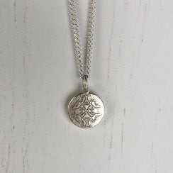 Becky Dockree Silver Small Coin Necklace