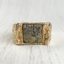Bjorn Weckstrom Gold and Pyrite Ring