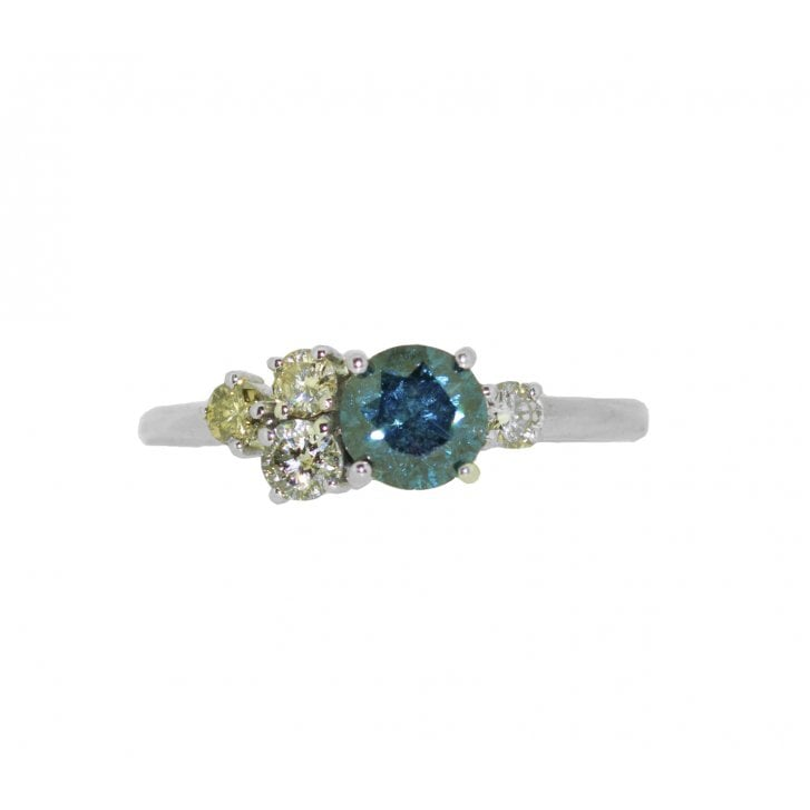 Lila's Blue Diamond Cluster Ring
