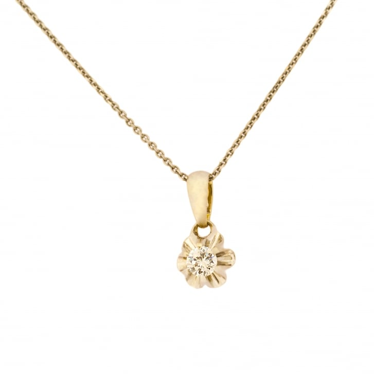 Buttercup Style Set Diamond Floral Pendant