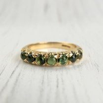 Cabochon Tourmaline Half Eternity Ring