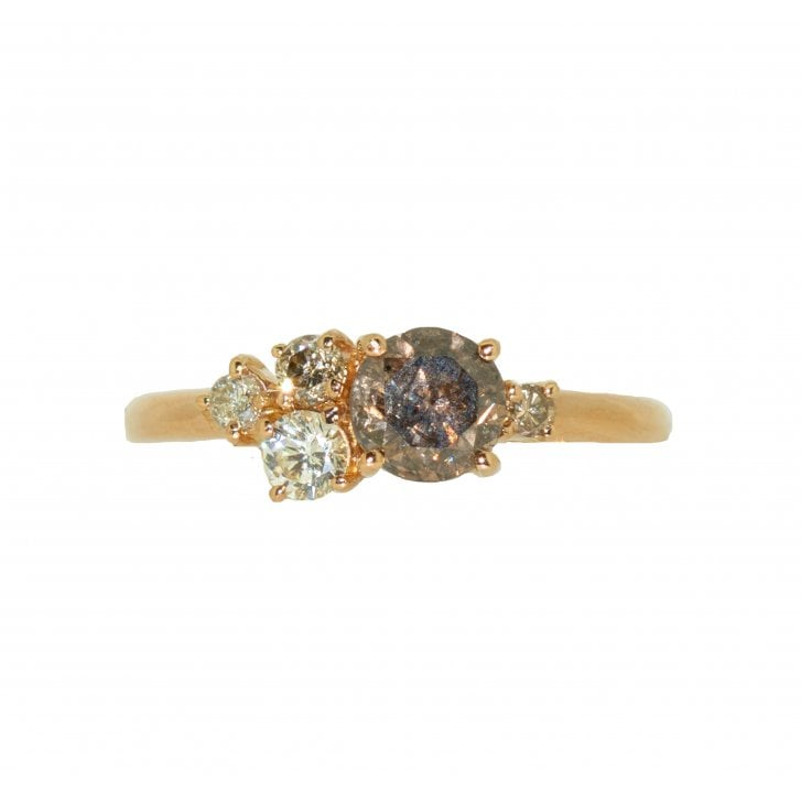 Lila's Champagne Diamond Cluster Ring