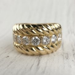 Chunky Seven Diamonds Ring