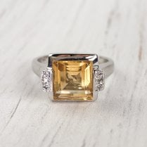 Citrine and Diamonds Dress Ring