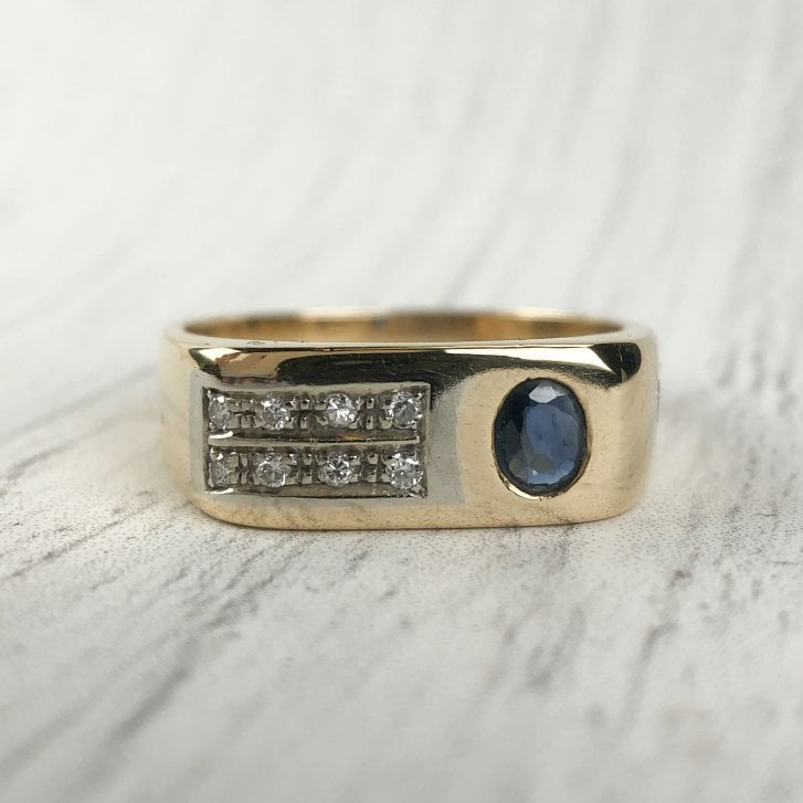 Cool Vintage Italian Signet Ring