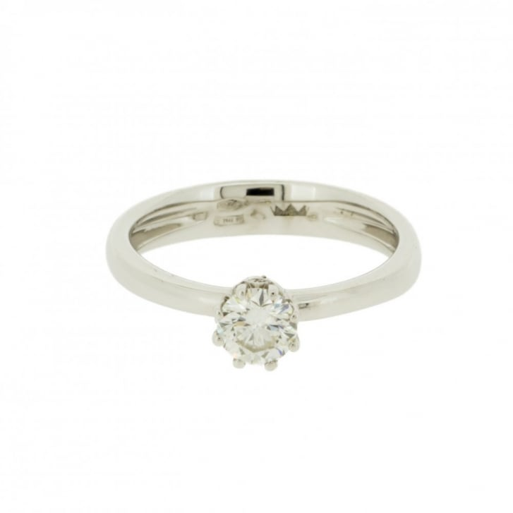Crown Top Diamond Solitaire Ring