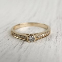 Dainty Diamond Engagement Ring