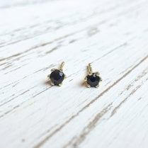 Dark Sapphire Stud Earrings
