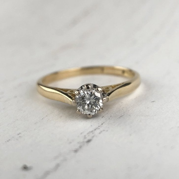 Delicate Diamond Solitaire with Rex Collect