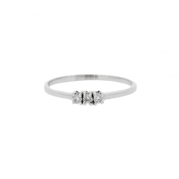 Delicate Diamond Trilogy Ring