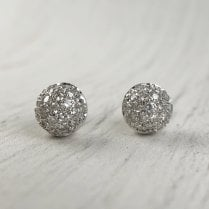 Diamond ball Stud Earrings