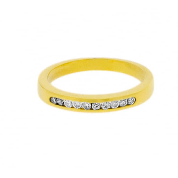 Diamond Channel Set Eternity Ring in Yellow Gold