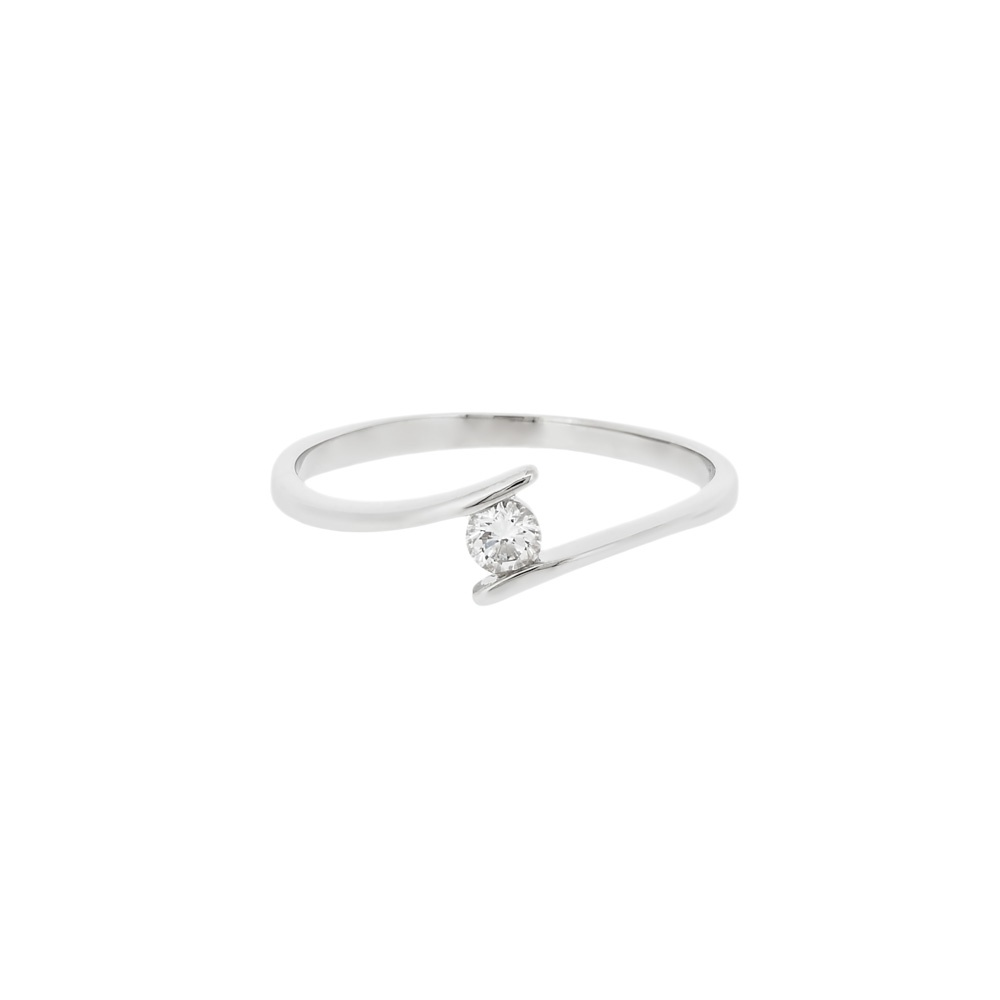 crossover ring in 18ct white gold